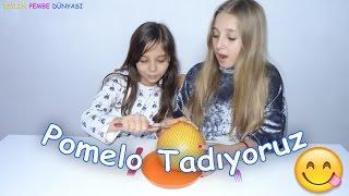 Pomelo Meyvesi Tadıyoruz - Soyması Ne Kadar Zormuş Ya - Eğlenceli Çocuk Videosu - Funny Kids Videos