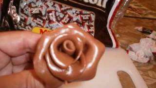 How to make a rose flower from a tootsie roll