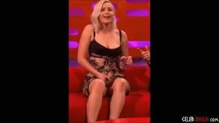 Jennifer Lawrence Upskirt Vagina Flash On Live TV