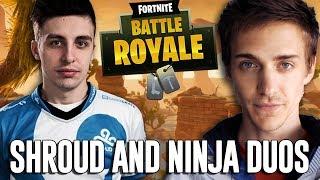 Ninja and Shroud Duos!! - Fortnite Battle Royale Gameplay