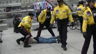 ANTIFA, Violence & Arrests At Toronto M-103 Protest
