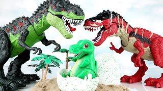 공룡메카드 알공룡 티라노! Dinosaur Eggs Hatching. Tyrannosaurus born in eggs. Dinosaur Movie. Fun Toys~