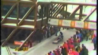 1984 Winter Olympics - Two-man Bobsled 3rd Run - Part 1