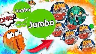 JUMBO VS 92 PEOPLE - INSANE SOLO AGARIO GAMEPLAY