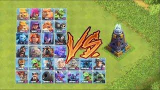 1 Vs 1 Max Mega Tesla Vs All Troops | Who Will Win | COC Private server