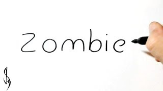 How to Turn Words Zombie into a Cartoon #36