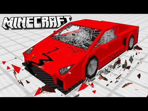 Destroying EXPENSIVE SPORTS CARS in Minecraft!