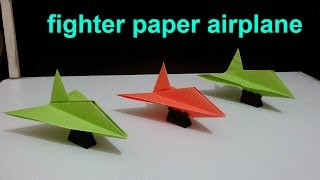 How To Make a Stealth Fighter Paper Airplane