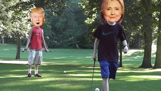 Donald Trump vs Hillary Clinton in GOLF