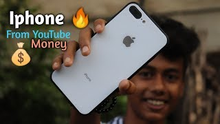 First Iphone From Youtube Money 🔥 Iphone 8 plus Review