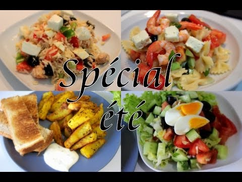 Spécial été Recettes Salades وصفات سلطة سهلة و سريعة