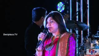 Alka Yagnik singing Jo Haal Dil Ka Idhar Ho Raha Hai song at DFWICS Diwali Mela 2015 at Dallas