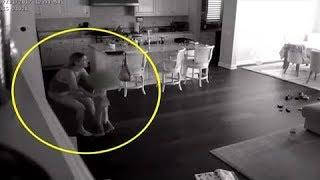 Niñera Escucha Ruidos Arriba, Luego Papá Revisa La Cámara Oculta y Capta Pesadilla En Su Cocina