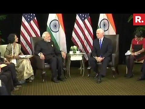 Xxx Mp4 PM Narendra Modi Meets US Vice President Mike Pence In Singapore 3gp Sex