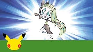 Celebrate #Pokemon20 with the Mythical Pokémon Meloetta!