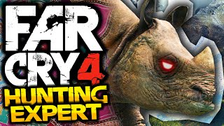 Far Cry 4: Hunting Expert! - #3 - RHINO ATTACK! - (FC4 Funny Moments)