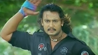 Darshan Killed Rowdy in front of Heroine Namitha | Indra Kannada Movie Action Scene