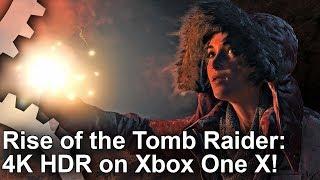 [4K HDR] Rise of the Tomb Raider Xbox One X Gamescom Demo Gameplay!