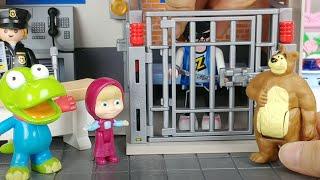 마샤와 곰 사라진 초콜릿 드레스 도둑을 잡아라 감옥 사건 경찰 뽀로로 폴리 장난감놀이 Masha and the Bear Police Station and Jail toys play