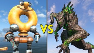 Fallout 4 - 100 DONUTS vs 50 DEATHCLAWS - Battles #75