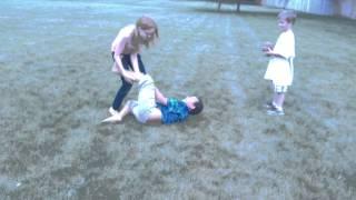 Little girl attacks boy! Moms get involved later
