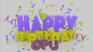 Happy Birthday video gift for OPU