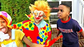 Scary Killer Clown KIDNAPS and Attacks!  - Onyx Kids