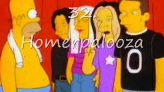 top 50 simpsons episodes.