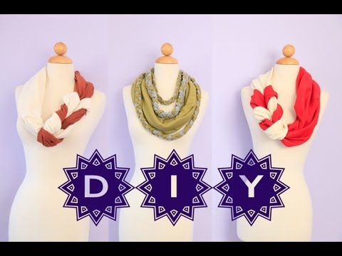 DIY Cute Braided Scarves No Sew EASY How To Gift Ideas