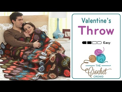 How to Crochet An Afghan: Valentine's Throw