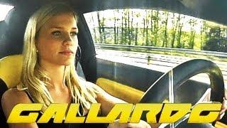 18 Year old girl driving a Lamborghini Gallardo in 240 km/h (150mp/h)