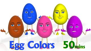 Surprise Eggs Color Songs | Learn colours | 3D Egg colors Nursery Rhymes & Songs for children