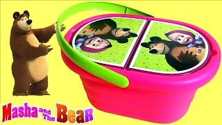 Play Doh Masha and the Bear Picnic Basket Baby Toy  Маша и Медведь Сюрприз игрушки Panier