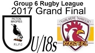 Group 6 Rugby - 2017 U/18s Grand Final - Picton v Thirlmere