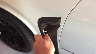 AutoTecknic BMW X5 Carbon Fender Vent Installation