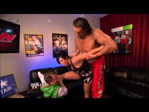 Mr. McMahon walks in on Vickie Guerrero warming up for her match with AJ Lee: Raw, Dec. 10, 2012