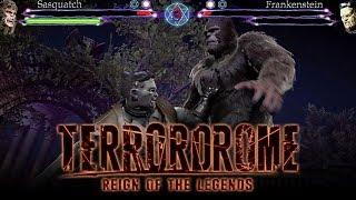 Terrordrome 2 - FIRST LOOK GAMEPLAY w/ Frankenstein VS Sasquatch! (Horror Fighting Game)