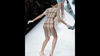 "FOUR MODELS FALL at Sheguang Hu Fall 2014 fashion show ""Seccry"" HD VIDEO"