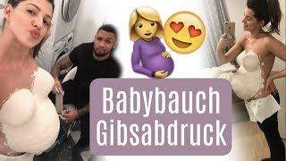 Gipsabdruck vom Babybauch ♡ Team Harrison