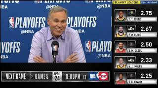 Mike D'Antoni postgame reaction | Jazz vs Rockets Game 4 | 2019 NBA Playoffs