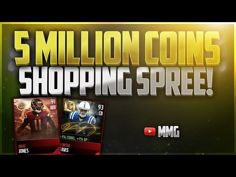 Building the Best Team 5 MILLION COINS SHOPPING SPREE Madden Mobile 17