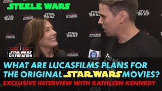 Kathleen Kennedy laughs off the idea of changing George Lucas