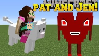 Minecraft: PAT & JEN MOD!!! (CLOUD, HEART BOSS, & PUFFERFISH WEAPONS!) Mod Showcase