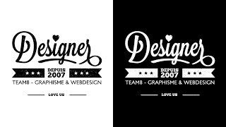 Tutoriel Illustrator - Tuto créer un logo professionnel avec Illustrator CC à l'aide de typographies