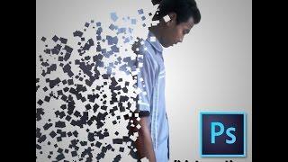 cara membuat disintegration effect dengan photoshop