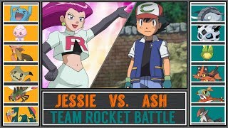 Ash vs. Jessie (Pokémon Sun/Moon) - Team Rocket Battle