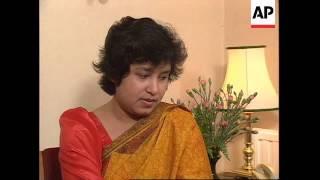 UK: OXFORD: TASLIMA NASRIN INTERVIEW