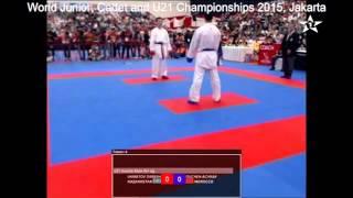 أشرف أوشن يهدي المغرب أول ميدالية ذهبية في بطولة العالم للكاراتيه بإندونيسيا