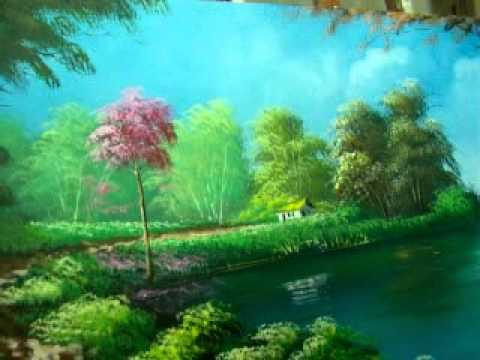 Vídeo Aula pintura de paisagem001