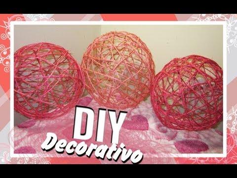 Manualidad Esfera decorativa hecha con yute ADORNO PARA FIESTAS